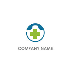 medical cross phone logo vector image