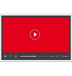 Modern web flat video player interface - vector
