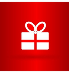 Nice and funny present on the red background vector image