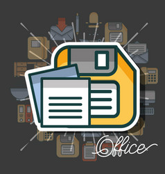 office supplies and people vector image