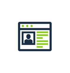 online social network logo icon design vector image