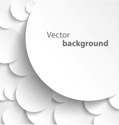 Paper circles with drop shadows vector image