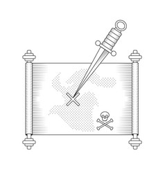 Pirate treasure map with vector