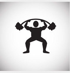 Power lifter on white background vector