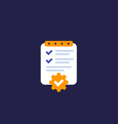 Project management plan icon vector