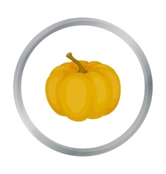Pumpkin icon in cartoon style isolated on white vector