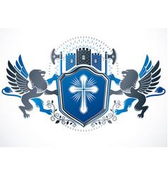Retro vintage insignia created using design vector
