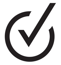 Right check mark black icon symbol vector