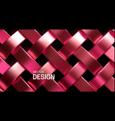 rose gold wicker pattern 3d vector image