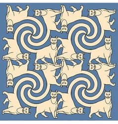 Seamless cats repetition pattern vector