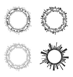 set abstract ircle futuristic user interfaces vector image