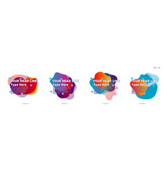 set of abstract modern graphic elements gradient vector image