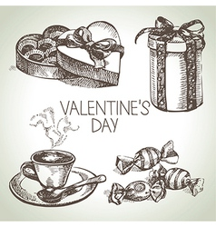 set valentines day vector image