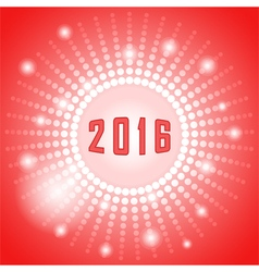 Shiny sphere with 2016 year vector image