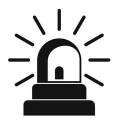 siren icon simple style vector image