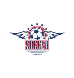 Soccer game symbol with football sport ball vector