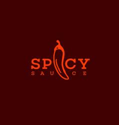 spicy sauce logo vector image
