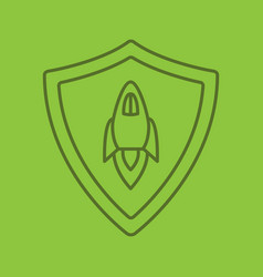 startup projects protection linear icon vector image