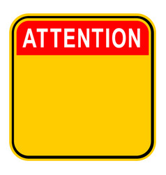 sticker attention safety sign vector image