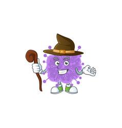 Sweet and tricky witch coronavirus influenza vector