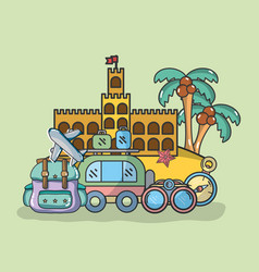 Travel and vacations vector