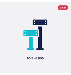Two color boning rod icon from construction vector