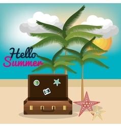 Vacation summer besch travel vector