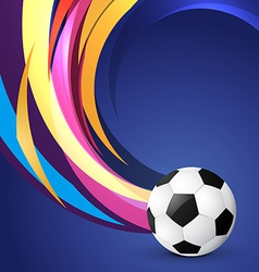 Wave style football design vector