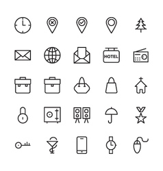 Web and user interface outline icons 1 vector