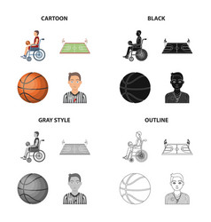 Wheelchair disabled man and other web icon in vector