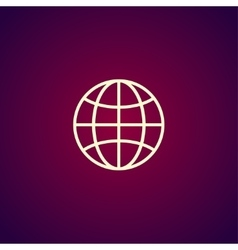 World Globe Icon pictogram icon vector