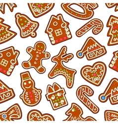 year gingerbread seamless pattern vector image