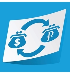 Dollar-ruble exchange sticker vector image vector image