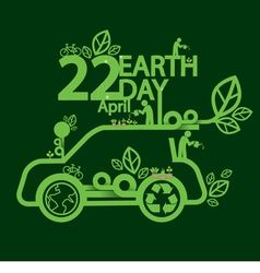 Earth Day Ecologic Driving Concept vector image vector image