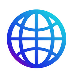 icon internet symbol of the website globe sign vector image vector image