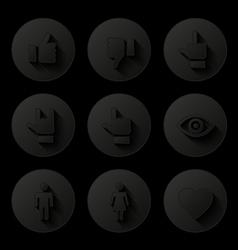 Social icons set vector image vector image