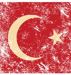 Turkey retro flag vector