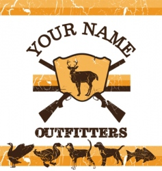 vintage hunting sign vector image vector image