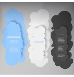 banners and cloud Color vector image vector image