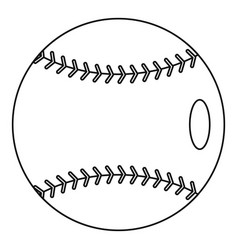 baseball icon outline style vector image vector image