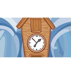 cartoon wooden cuckoo clock vector image
