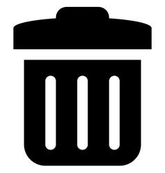 Delete icon vector image vector image