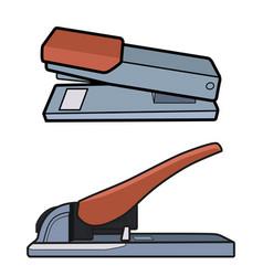 heavyduty stapler set vector image vector image