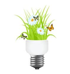 power saving grass vector image