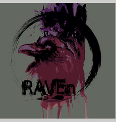 raven head vector image vector image