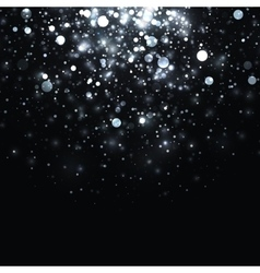 Silver glowing light glitter background vector