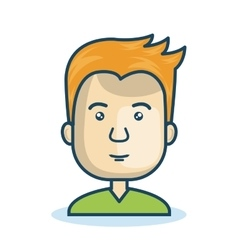 character man young isolated vector image