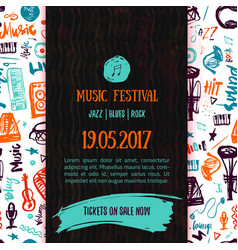 Music concert poster template Can be used vector image