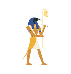 Thoth god of wisdom egyptian ancient culture vector