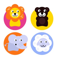 Animal buttons set vector image